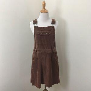 Vintage 90s Corduroy Jumper Dress